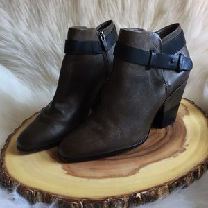 Dolce Vita leather side zip booties